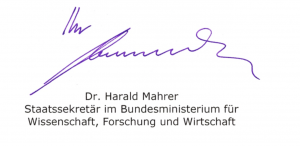 Dr. Harald Mahrer